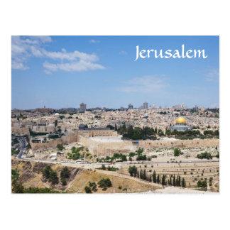 Uitzicht van de Oude Stad van Jeruzalem, Israël Briefkaart