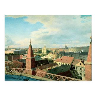 Uitzicht van de stad van Berlijn met Museum Altes Briefkaart