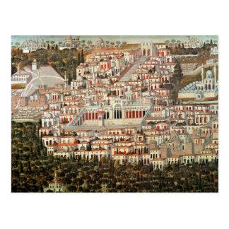 Uitzicht van de stad van Damascus Briefkaart