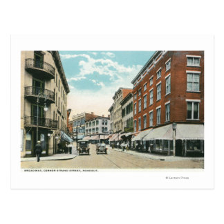 Uitzicht van de Straat van de Bundel van Broadway Briefkaart