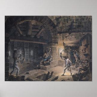Uitzicht van een cel in Bastille Poster