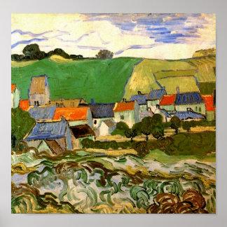 Uitzicht van (F799) Van Gogh Fine Art. Auvers Poster