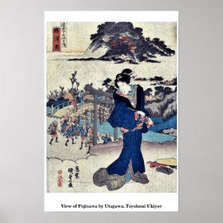 Uitzicht van Fujisawa door Utagawa, Toyokuni Poster