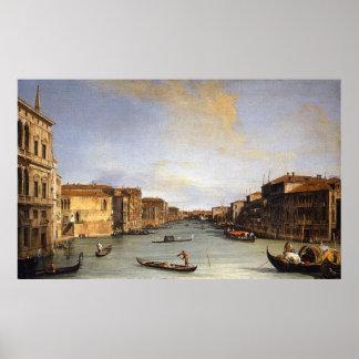Uitzicht van het Grote Kanaal, Venetië - Canaletto Poster