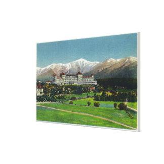 Uitzicht van het Hotel van MT Washington, Presiden Canvas Afdrukken