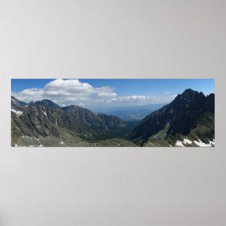 Uitzicht van Koprowa Pas, Tatras Poster