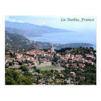 Uitzicht van La Turbie, Frankrijk Briefkaart