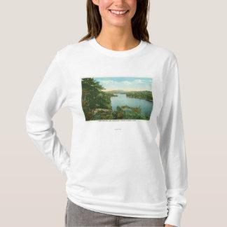 Uitzicht van Lager Meer Saranac van Bluff Eiland T Shirt