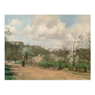 Uitzicht van Louveciennes, 1869-70 Briefkaart