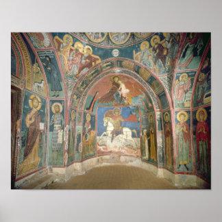 Uitzicht van narthex, 1332-3 poster