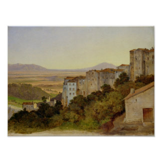 Uitzicht van Olevano, 1821-24 Poster