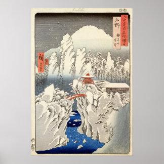 Uitzicht van Onderstel Haruna in de Sneeuw Poster