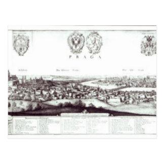 Uitzicht van Praag, 1649 Briefkaart