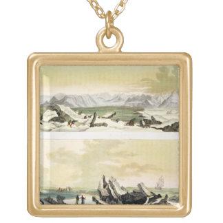 """Uitzicht van Spitsbergen met """"Dorothea"""" (kleurenen Goud Vergulden Ketting"""
