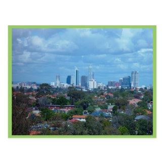 Uitzicht van Stad van Perth van een Heuveltop van Briefkaart