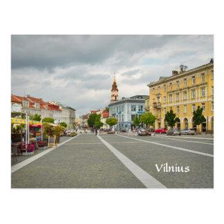 Uitzicht van Stadhuis, Vilnius Litouwen Briefkaart