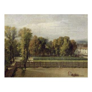 Uitzicht van Tuinen van Luxemburg in Parijs, 1794 Briefkaart