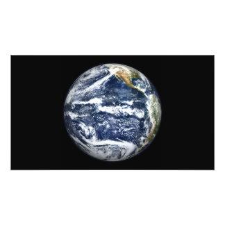 Uitzicht van Volledige die Aarde over Vreedzame Oc Foto Prints