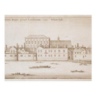 Uitzicht van Whitehall, 1645 Briefkaart