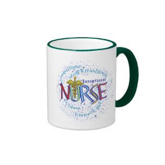 Uitzonderlijke de koffiemok van het Motto van de Mok Gekleurder Rand En Oor