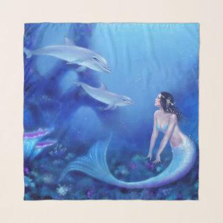 Ultramarijn - Meermin en Dolfijnen Sjaal