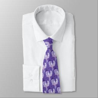 Ultraviolet van de iris bloemen botanisch persoonlijke stropdas