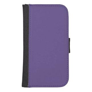Ultraviolette Kleur Galaxy S4 Portemonnee Hoesje