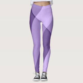 Ultraviolette paarse moderne geometrische lijnen leggings