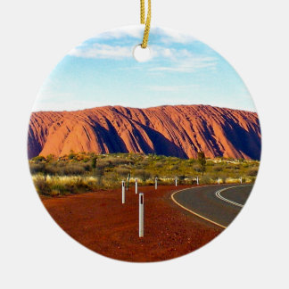 Uluru/Rots Ayers - Australië Rond Keramisch Ornament