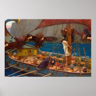 Ulysses en de Sirenes Poster