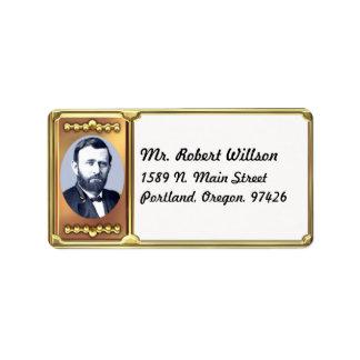 Ulysses S. Grant het Etiket van het Adres