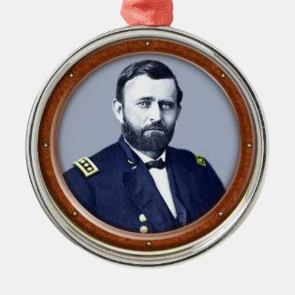 Ulysses S. Grant Zilverkleurig Rond Ornament
