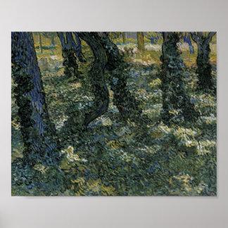 Undergrowth Van Gogh Fine Art. Poster