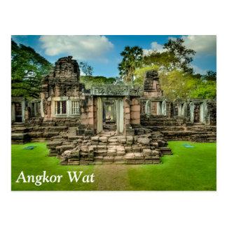 Unesco van de tempelKambodja van Wat van Angkor Briefkaart