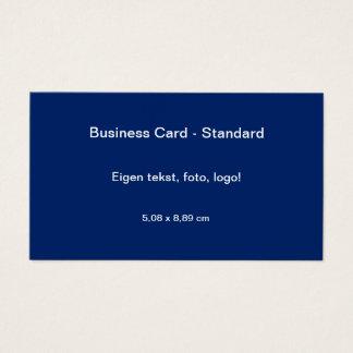 Uni Blauw van Standaard van Visitekaartje Visitekaartjes