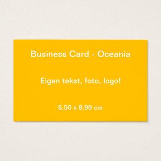 Uni Geel van Oceanië van Visitekaartje Visitekaartjes