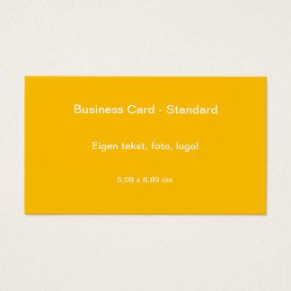 Uni Geel van Standaard van Visitekaartje Visitekaartjes