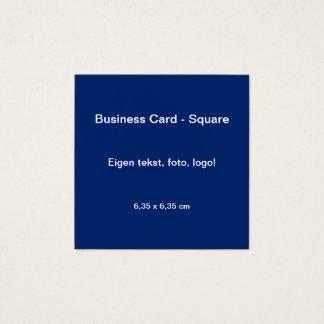 Uni van Vierkant van Visitekaartje Blauw - Geel Vierkante Visitekaartjes
