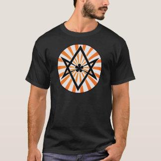 Unicursal Oranje Zonnestraal Hexagram T Shirt