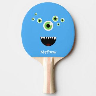 Uniek Grappig Gek Leuk Blauw Monster Tafeltennis Bat