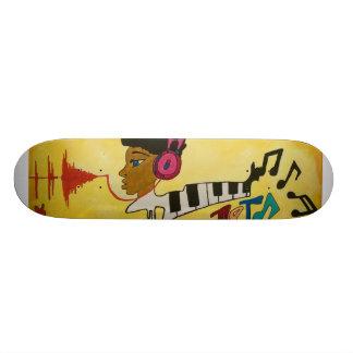Uniek stedelijk abstract skateboardontwerp 21,6 cm skateboard deck
