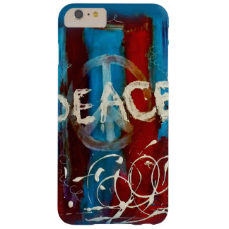 Uniek vredesteken op een abstracte achtergrond barely there iPhone 6 plus hoesje