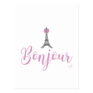 Unieke de Boog van de Toren bonjour-Eiffel Briefkaart
