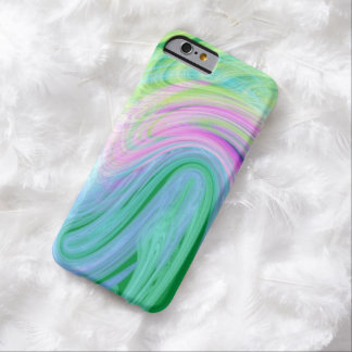 unieke girly munt roze lijnen ombre barely there iPhone 6 hoesje