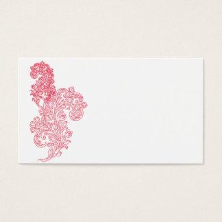 Unieke magenta grenssjabloon visitekaartjes