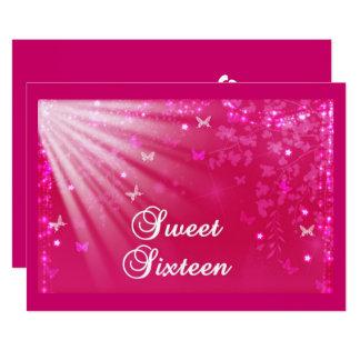 Unieke, Roze, Zoete Uitnodiging Zestien