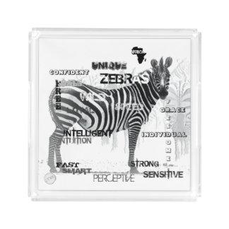 Unieke Zebras Acryl Dienblad