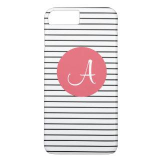 Unieke Zwarte Witte Roze Gestreept van het iPhone 8/7 Plus Hoesje