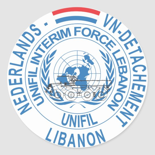UNIFIL NL VN Detachement Ronde Sticker