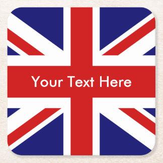 Union Jack Britten markeert Vierkante Onderzetter